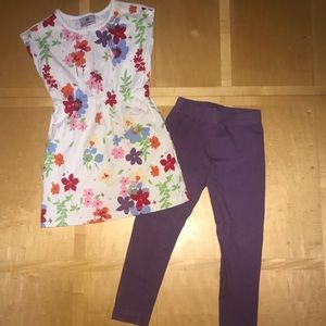 👧🏼 Hanna Andersson Floral Tunic & Leggings
